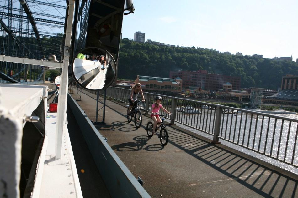 Bicycles on Smithfield Bridge