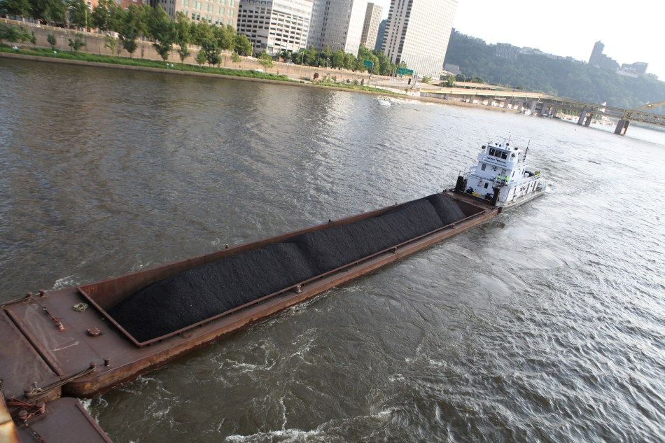 Just the single barge
