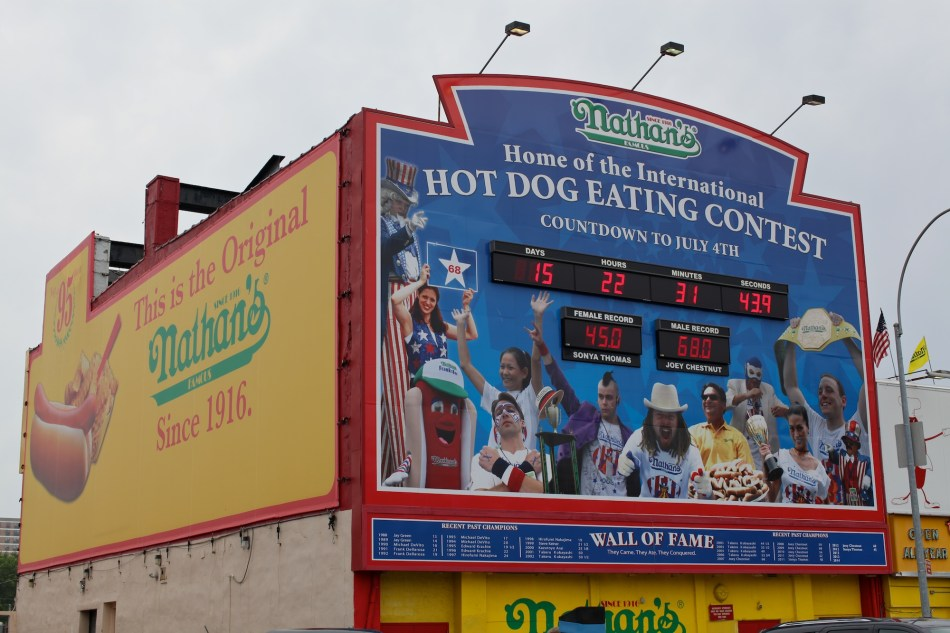 Hot Dog Eating Countdown Sign