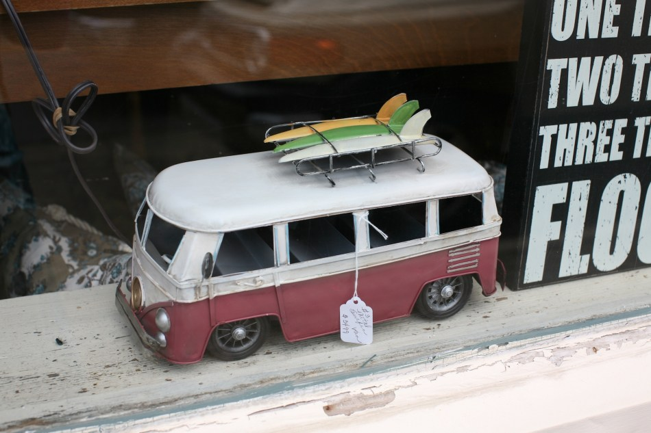 Volkswagen Van and Surfboards.