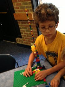 Building Lego at the Library