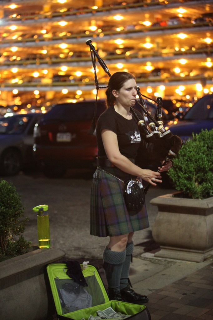 Bagpiper on Penn Avenue