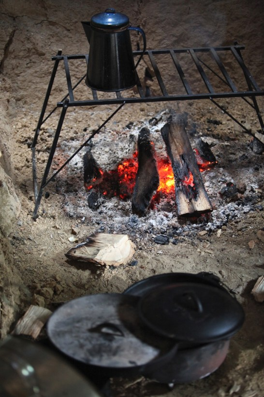 cooking in fireplace