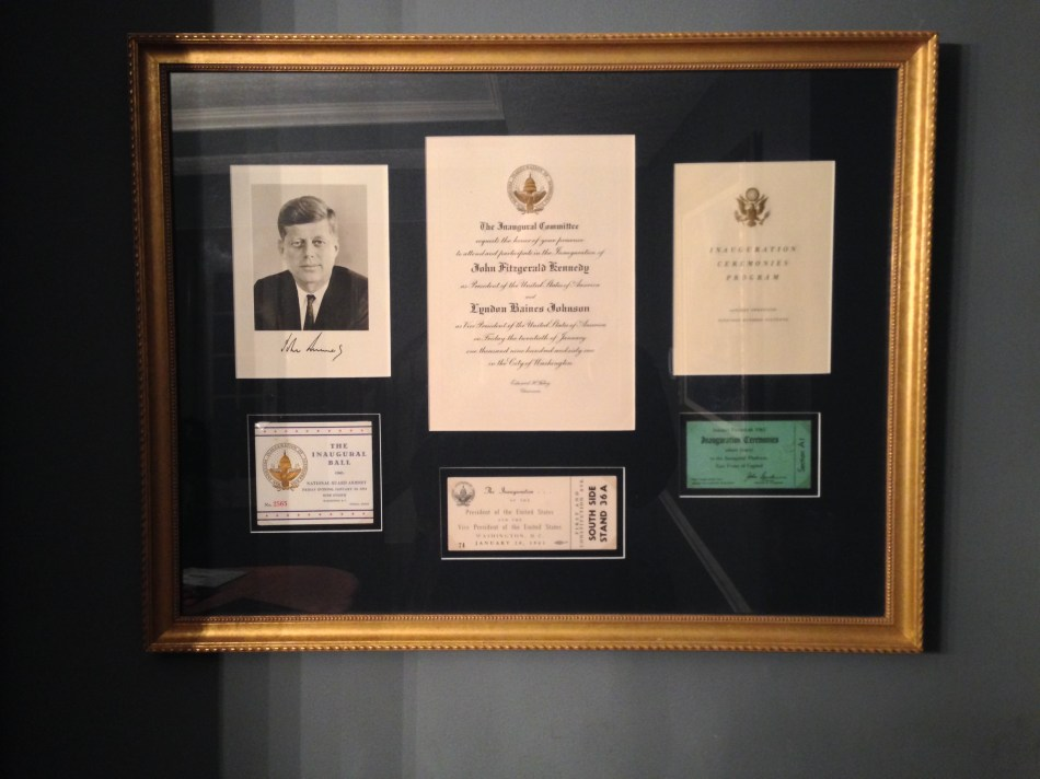 JFK Inauguration memorabilia