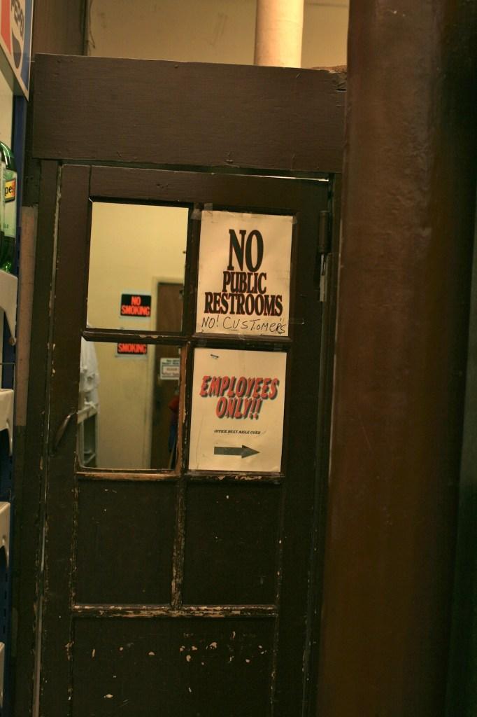 no public restrooms