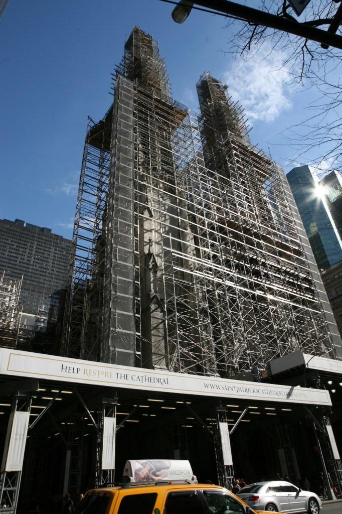 scaffolding on St Patricks