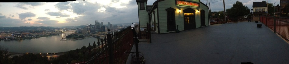 Panorama from the Duquesne Incline platform