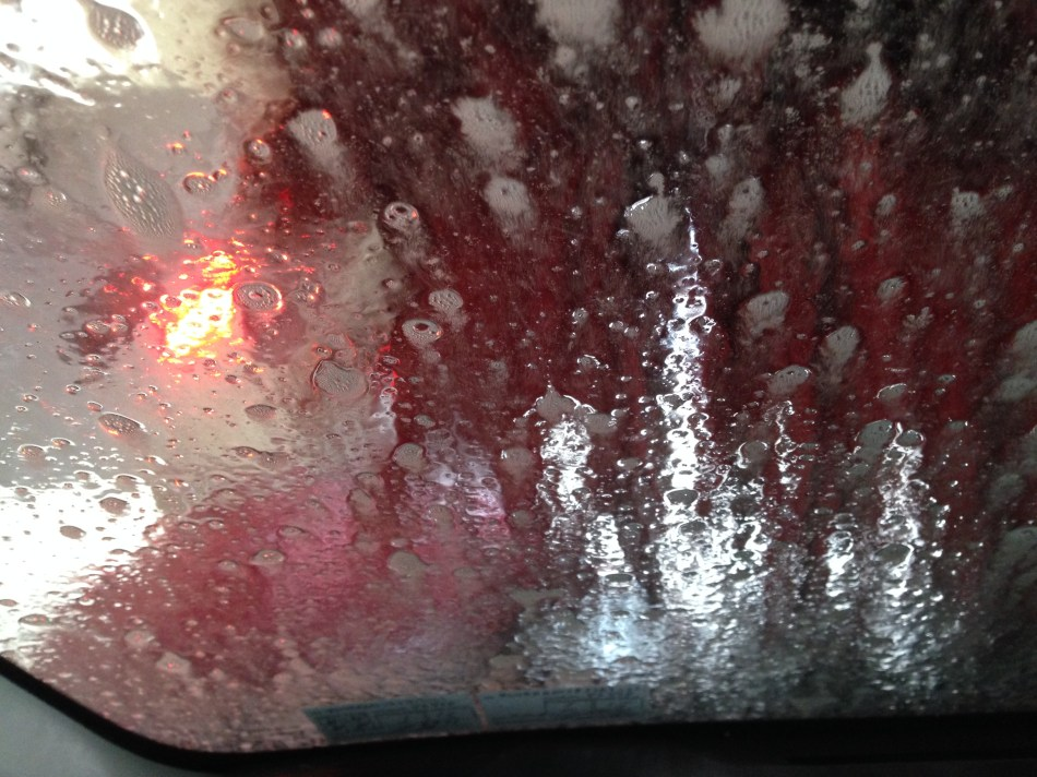 soap and brush in car wash