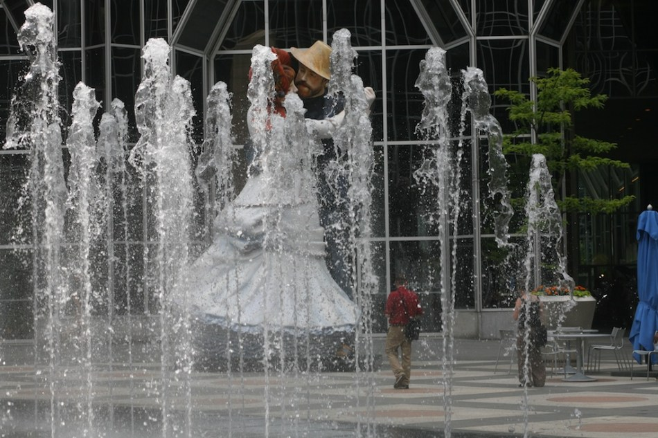 Dancing at Bougival Fountains