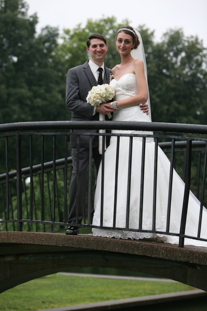 couple on bridge