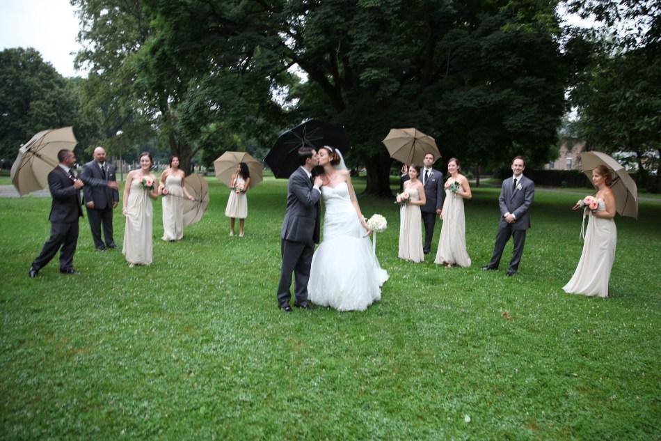wedding party umbrellas