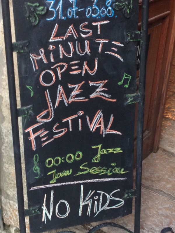 Jazz Festival Sign