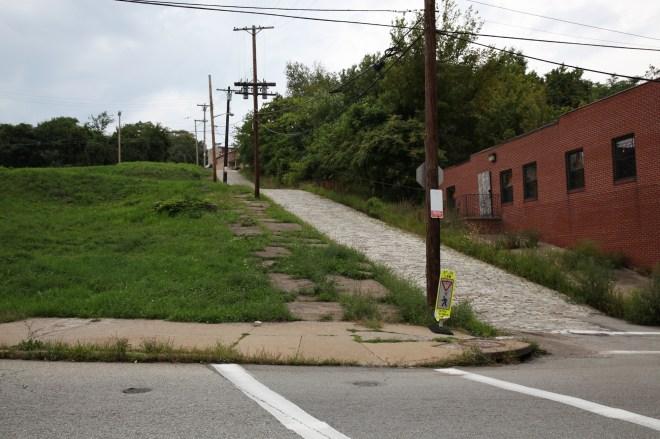 cobblestone road in hill (1)