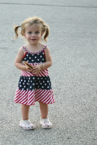 Maura in her 4th of July dress