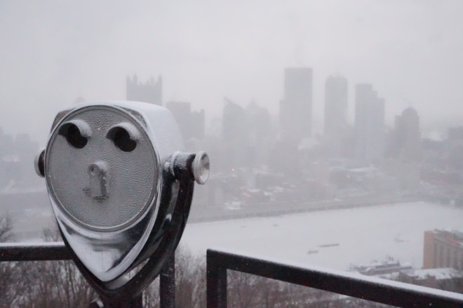 Pittsburgh Skyline in Snow