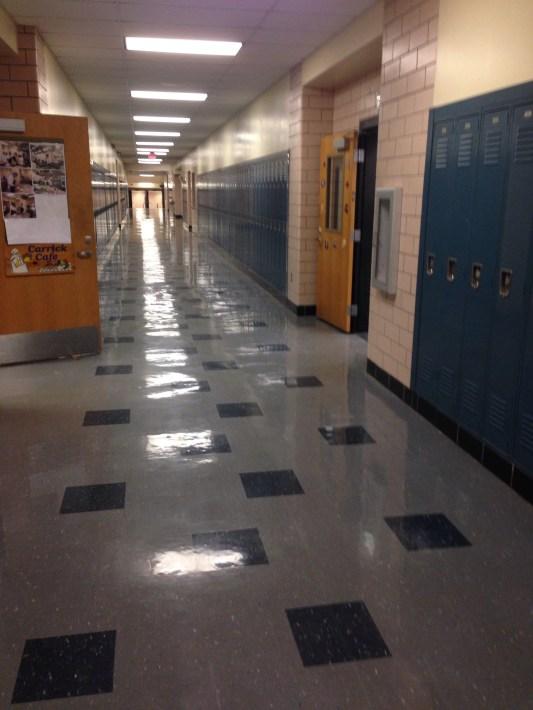 Light patterns on the floor