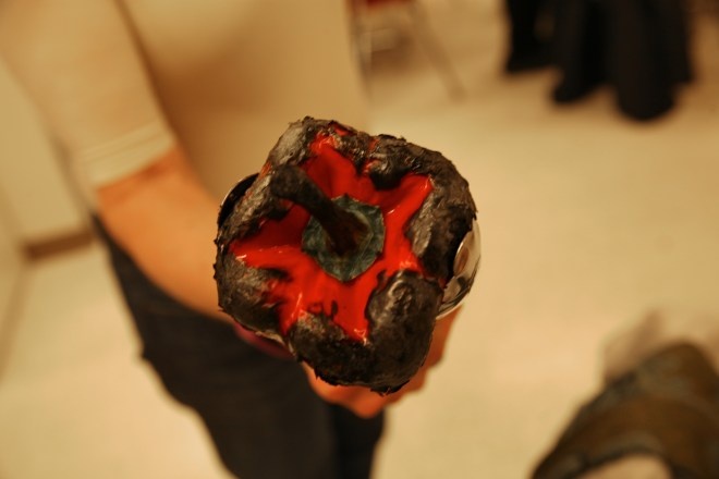 charred red pepper