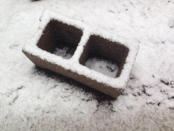 Cinderblock in the Snow