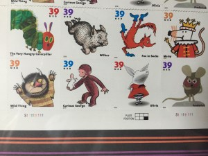 Closeup of the familiar book characters