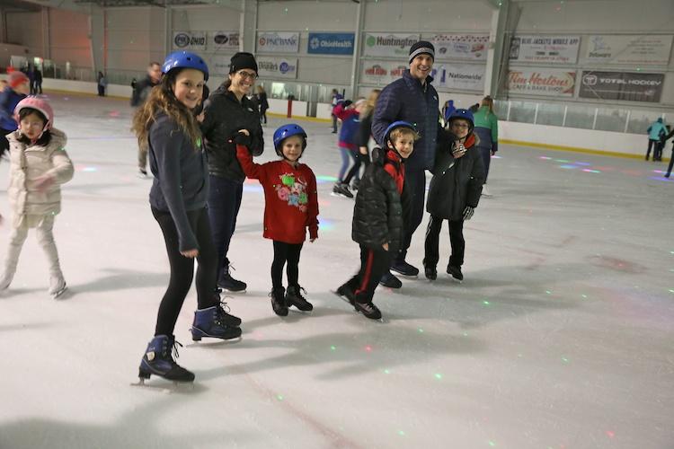ice skating family