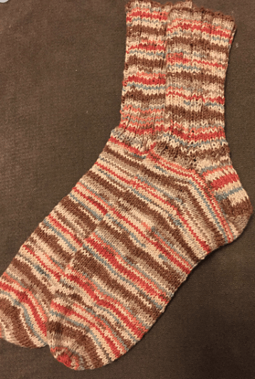 Cotton socks by Regia Yarn