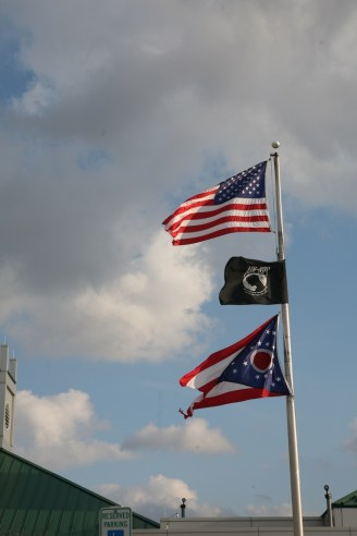 Ohio Flag is a different shape- Ohio Rest Stop