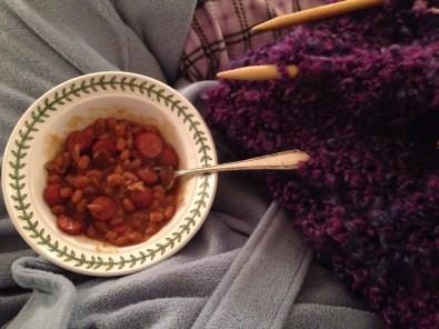 Beanie Weenie and Knitting