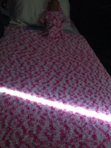 Light from Window on Maura's Blanket
