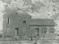 "By 1836 a ""substantial two-story brick house with four rooms"" was built near the intersection of S.E. Broad and Mercury where the CVS Pharmacy is today across from the Discovery Center)."
