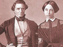 Confederate President Jefferson Davis and wife Varina