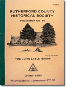 Publication 14: Murfreesboro Presbyterian Church, Kirks & Montgomerys, Russel Home, John Lytle, John M. Leak - Revolutionary War Pension. (Please add shipping of $5.00)