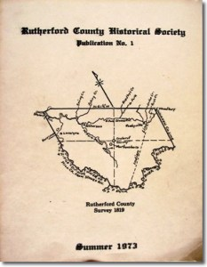 Publication 1: Rutherford County Marriage Records (1851-1853), Bride Index, Rutherford County Militia Commissions, 1807-1811, Rutherford County Offices and Officers (1804-1973) and Unions: Murfreesboro's Other University. OUT OF PRINT