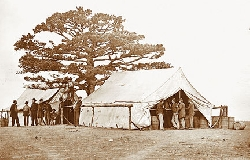Sutlers were like mobile dry goods stores during the Civil War.