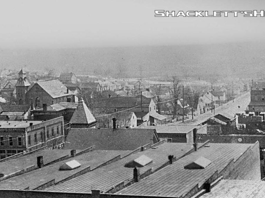 View from the Public Square looking toward South Church Street.  Schacklett's