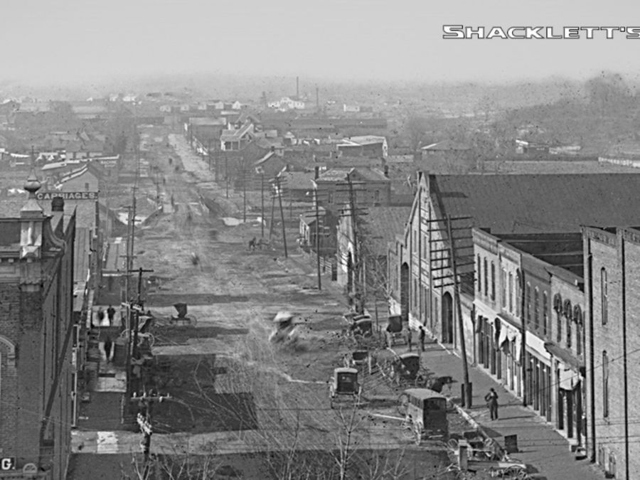 West Main Street, from the Public Square in Murfreesboro.  Shacklett's