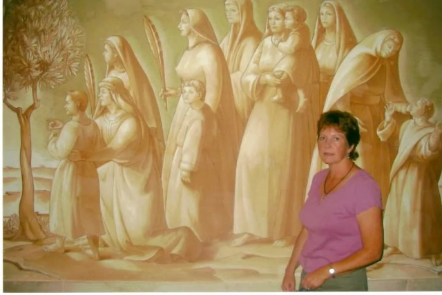 "Me, in the chapel at Bethphage, which is known as the ""Palm Sunday Chapel."""