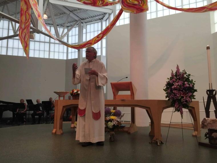 Rev. Jack Roeda preaching at the Memorial Service for Nicholas Huizenga, 22 June 2016