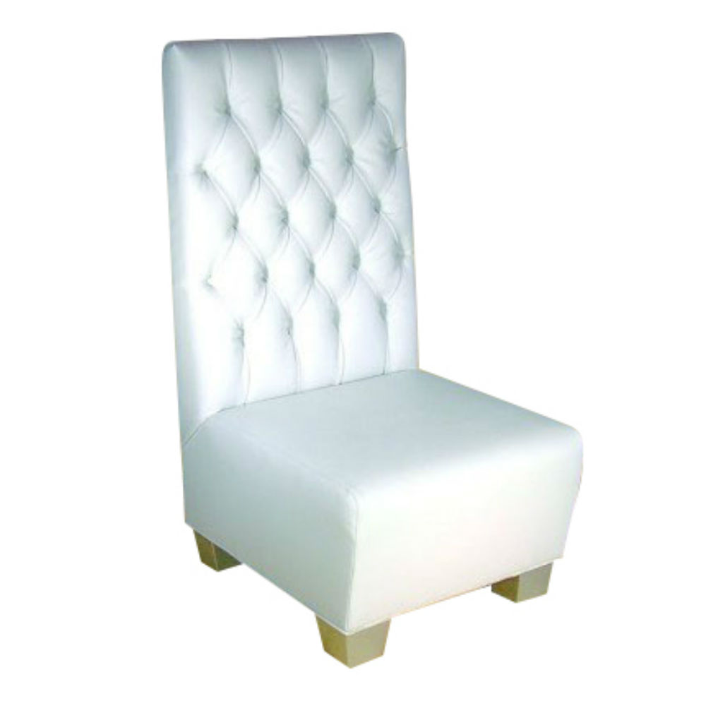 Tufted High Back Chair High Back Tufted Chair White Ruth Fischl Event Rental