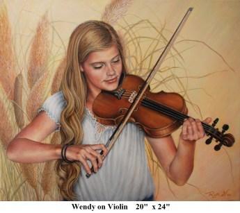 A Wendy on Violin