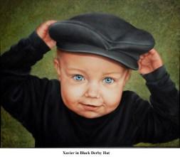 A Xavier in Black Derby Hat