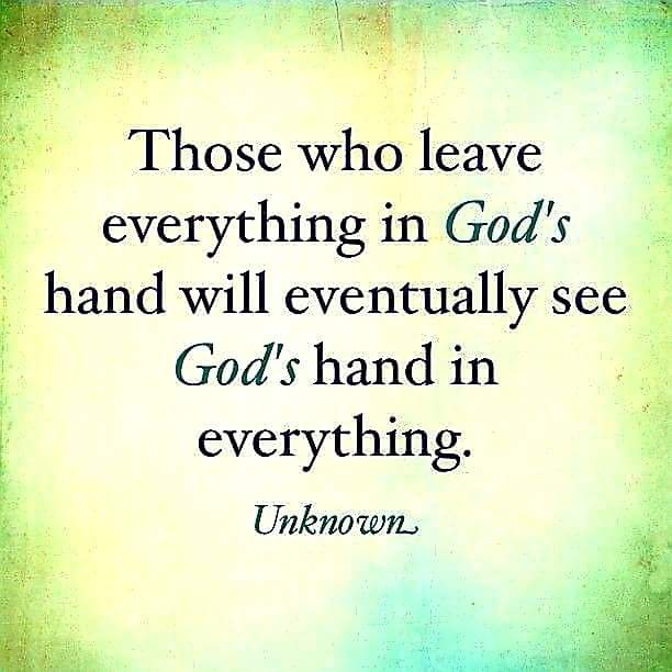 LEAVE IT IN GOD'S HANDS!