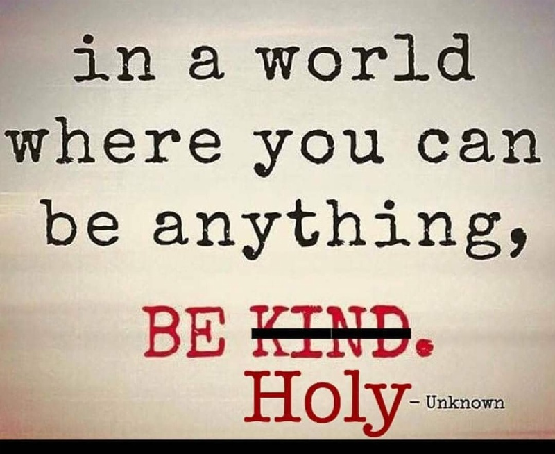 LIVE HOLY, SET APART FROM THE WORLD!