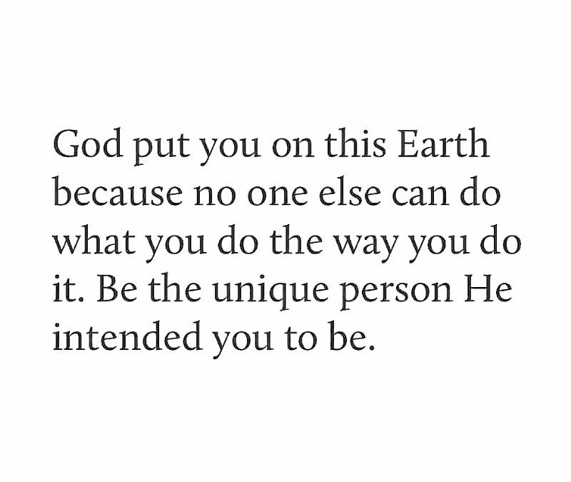 GOD ONLY MAKES ORIGINALS!