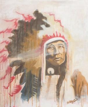Chief. Acrylic. 16x20