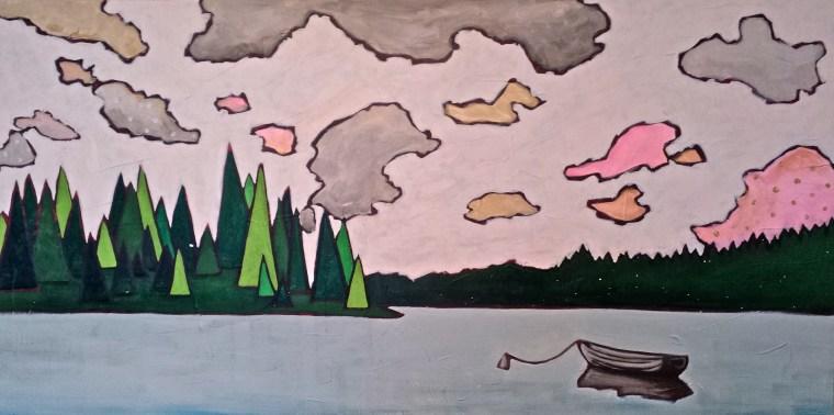 Sheridan Lake. Acrylic. 24x48