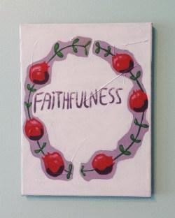 Faithfulness. Acrylic. 9x12
