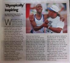 'Olympically' Inspiring- Derek