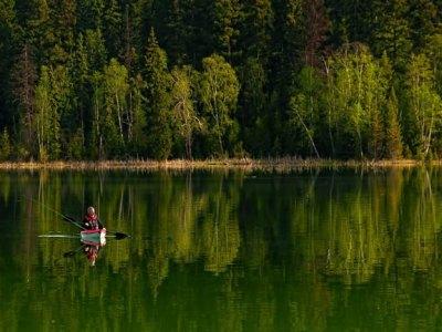 Kayak rental to explore peaceful Ruth Lake