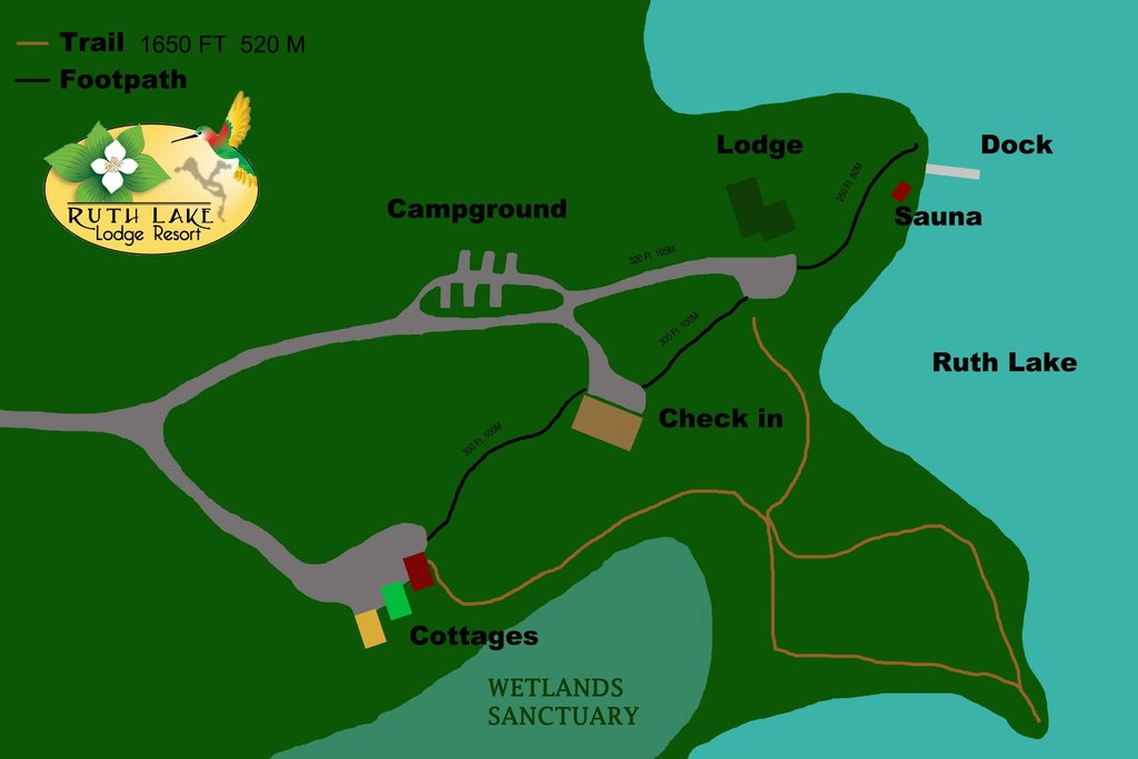Ruth Lake Lodge Resort property map