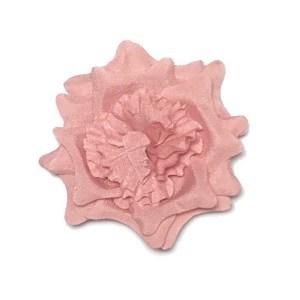 Pink silk lapel flower